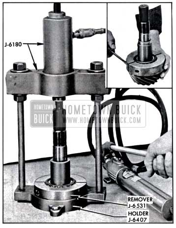 1957 Buick Removing Rear Pinion Bearing