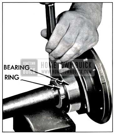 1957 Buick Removing Rear Wheel Bearing Retainer Ring