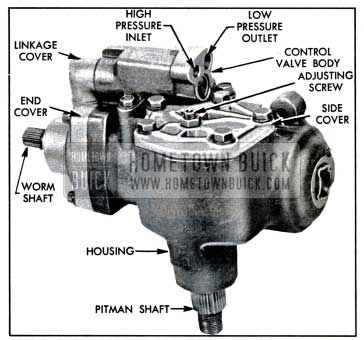 1957 Buick Right Side of Power Steering Gear Assembly