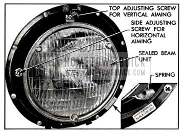 1957 Buick Sealed Beam Unit Mounting