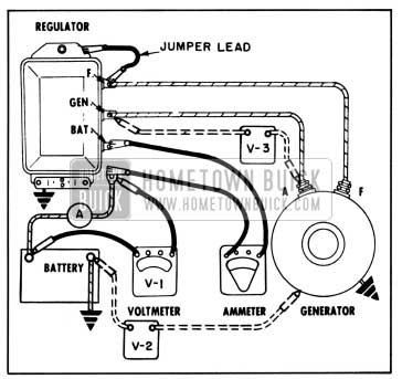 1957 Buick Generating System on 12 volt battery connections