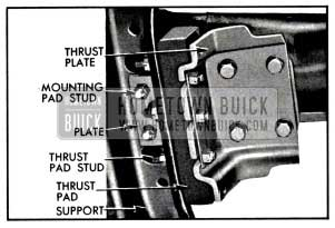 1957 Buick Transmission Mounting-Bottom View