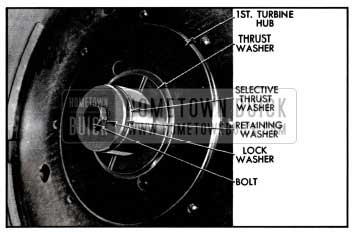1957 Buick Turbine Retaining Washer and Thrust Washer