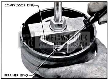 1957 Buick Using Clutch Spring Compressor J 2590