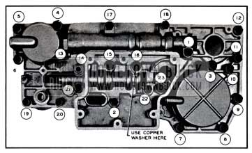 1957 Buick Valve and Servo Body Bolt Tightening Sequence