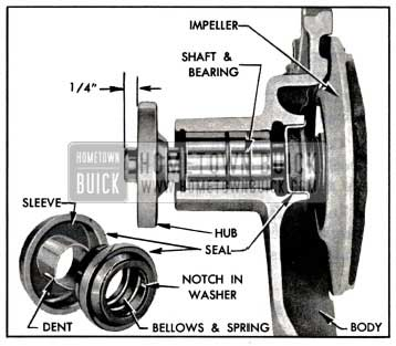 1957 Buick Water Pump Parts