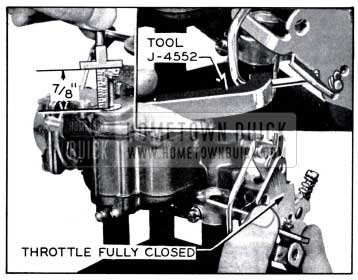 1958 Buick Accelerator Pump Adjustment