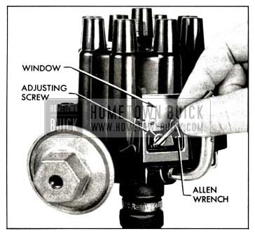 1958 Buick Adjusting Contact Point Dwell Angle