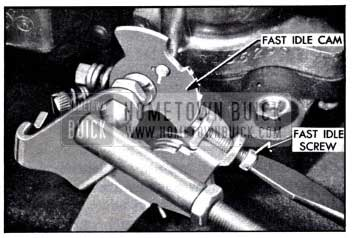 1958 Buick Adjusting Fast Idle Speed on Engine