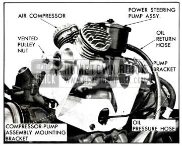 1958 Buick Air Compressor-Power Steering Pump Assembly