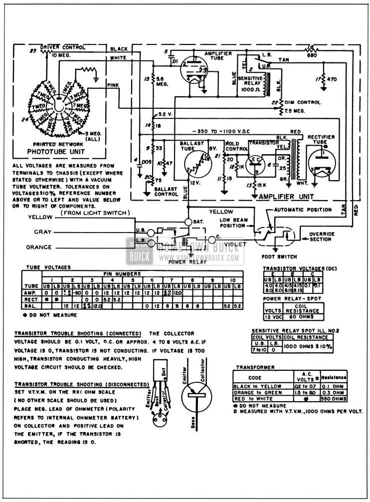 1958 Buick Autronic-Eye Schematic