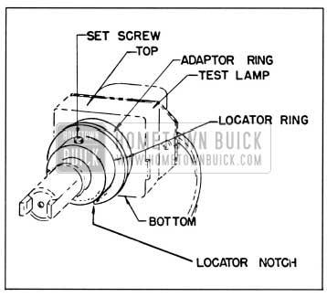 1958 Buick Autronic-Eye Test Lamp