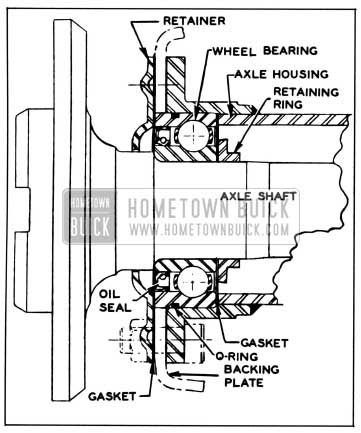 1958 Buick Axle Shaft and Bearing Assembly