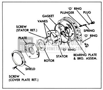 1958 Buick Bearing Plate and Pump Assembly