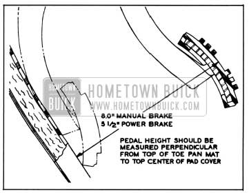1958 Buick Brake Pedal Height Adjustment