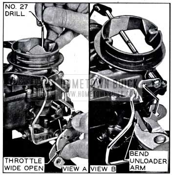 1958 Buick Carburetor Choke Unloader Adjustment