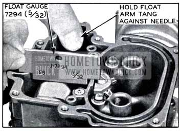 1958 Buick Carburetor Float Level Adjustment