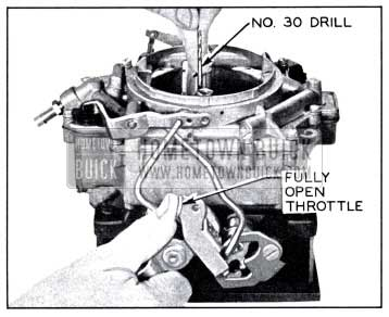 1958 Buick Checking Choke Unloader Adjustment