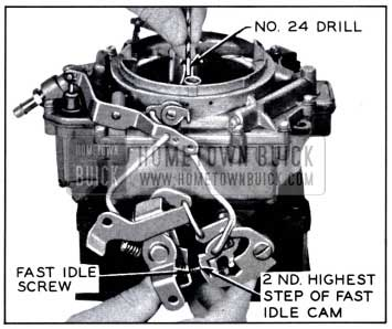 1958 Buick Checking Fast Idle Cam Adjustment