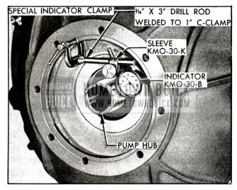 1958 Buick Checking Run-Out of Converter Pump Hub