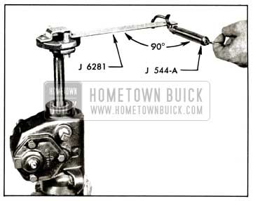 1958 Buick Checking Thrust Bearing or Lash Adjustment with Scale