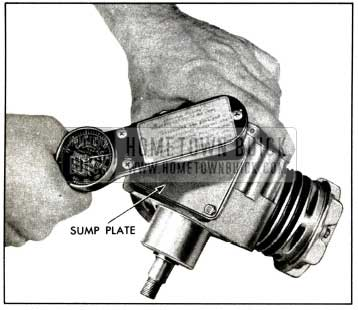 1958 Buick Compressor-Install Sump Cover Plate