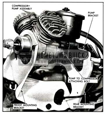 1958 Buick Compressor-Pump Assembly Mounting