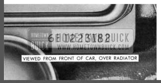 1958 Buick Engine Number Location
