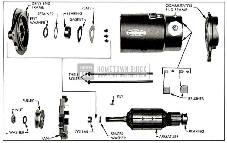 1958 Buick Generator Disassembled