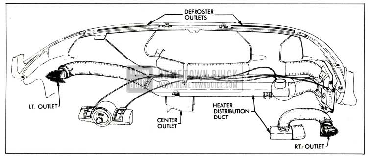 1958 Buick Heater and Defroster Outlets