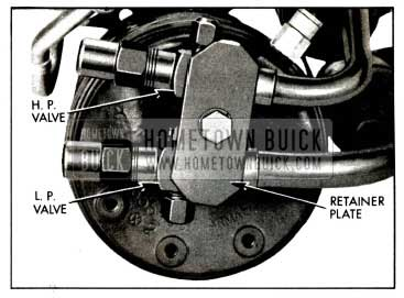 1958 Buick High and Low Pressure Service Valves