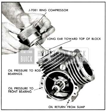 1958 Buick Install Piston and Rod Assembly