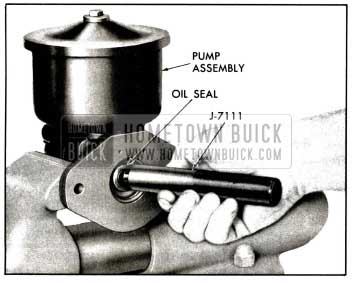 1958 Buick Installation of Drive Shaft Seal - Air Poise Pump