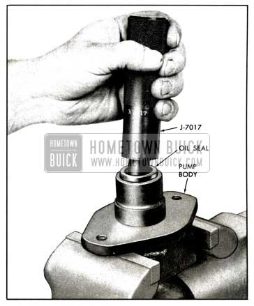 1958 Buick Installation of Drive Shaft Seal - Standard Pump