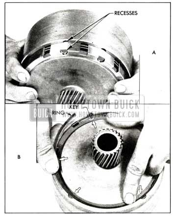 1958 Buick Installing Drum Over the Reaction Flange Gear