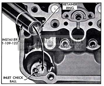 1958 Buick Installing Inlet Check Ball Retainer