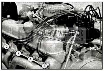 1958 Buick Installing Spark Plug Wires-Left Bank