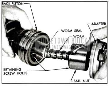 1958 Buick Installing Worm Assembly in Rack-Piston