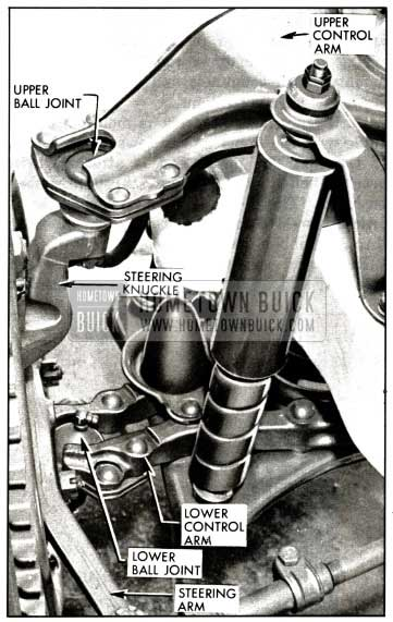 1958 Buick Left Steering Knuckle and Ball Joints