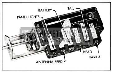 1958 Buick Lighting Switch