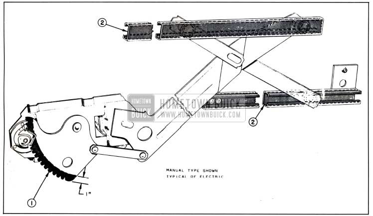 1958 Buick Lubrication of Front and Rear Door Window Regulator and Channels