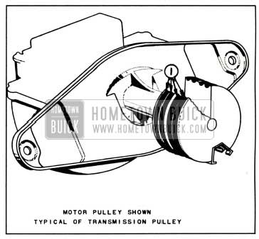 1958 Buick Lubrication of Windshield Wiper Motor Auxiliary Drive and Wiper Transmission Pulleys