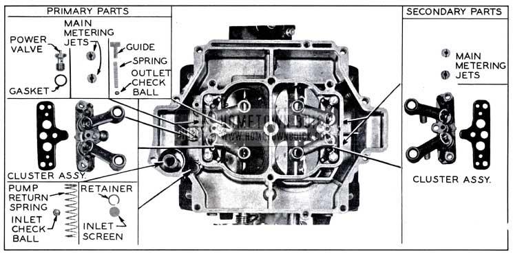 1958 Buick Main Rochester Carburetor Body Parts