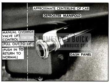 1958 Buick Manual Lift Control