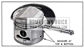 1958 Buick Measuring Piston with Micrometer