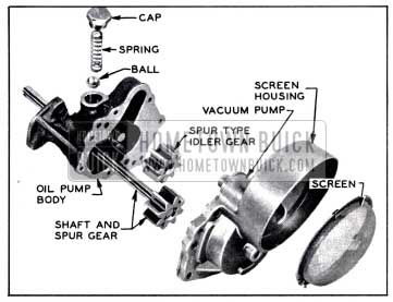 1958 Buick Oil Pump and Screen
