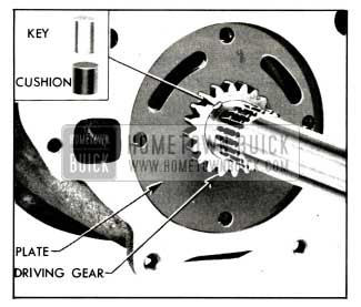 1958 Buick Oil Pump Driving Gear and Key Installed