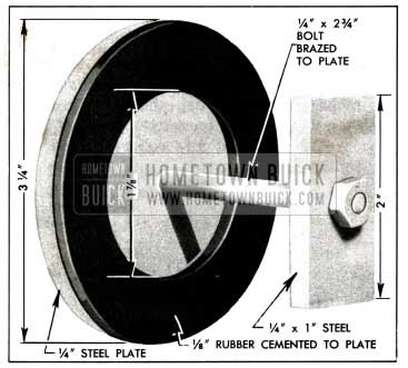 1958 Buick Plate and Washer for Pump Test