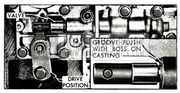 1958 Buick Position of Control Valve in Direct Drive Range