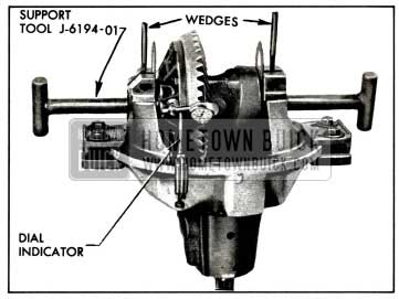 1958 Buick Positioning Differential for Correct Backlash
